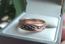 Clogau Welsh 9ct Rose Gold Celtic Eternal Love / Annwyl  Ring  - size T