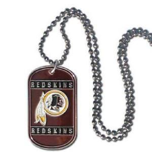 Washington Redskins Tag Style Necklace [NEW] NFL Jewelry Chain Choker og Dogtag