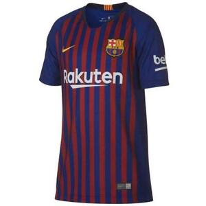 Juniors NIKE 2018/2019 BARCELONA HOME VAPOR T-Shirt 894489 456 Size M