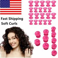 Magic Hair Curls Roller Curler No Clip Silicone Soft For Mom Girls Girlfriend US