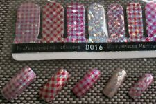 USA (16) 3D Nail Wrap Stickers Foil Plaid & Checkered Design Full Cover Nail Art