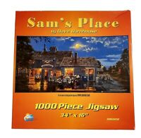 Sam's Place Dave Barnhouse 1000 Pc Motorcycle Art  Harley Davidson Jigsaw Puzzle