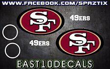 San Francisco 49ers Cornhole Decal 6 pc Set Football sticker package