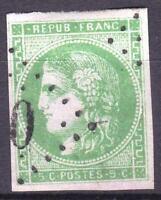 """FRANCE STAMP TIMBRE 42 Bd """" CERES BORDEAUX 5c VERT SAUGE """" OBLITERE TB M718"""