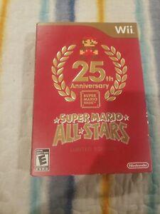 Super Mario All-Stars (Nintendo Wii, 2012) 25th anniversary Video Game.