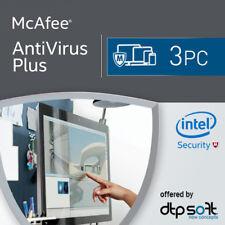 McAfee Anti-Virus Plus 2019 3 Appareils 3 Pc | 1 an Antyvirus 2018 BE EU