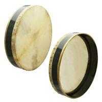 Percussion Bodhran, Wooden Green, Natural Head skin, Size 18 Inch, Irish Drum