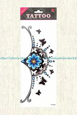 US SELLER, party mandala flower butterfly Girly Under Chest Side Boob Tattoo