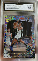 2019-20 Hoops Premium Stock Lazer Prizm rookie Keldon Johnson Spurs Gem Mint 10