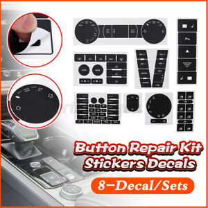 For VW Volkswagen Touareg 2004–2009 Worn Button Repair Kit Stickers Decals