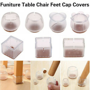 1/8/16X Silicone Chair Leg Caps Feet Pads Furniture Table Cover Floor Protectors