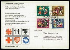BUND FDC 1964 WOHLFAHRT MÄRCHEN BRÜDER GRIMM FAIRY TALES Nr 447/450 ca41