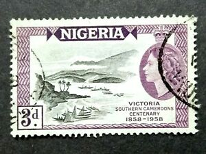 Nigeria 1958 100th Anniversary Victoria Southern Cameroons Single Issue - Used#2