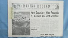 1970 Mining Record-Colorado & Nevada Mining-Miners-Photographs