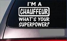 "Chauffeur Superpower 8"" sticker *G369* decal limousine driver"