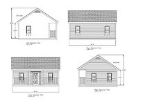 SMALL HOUSE PLANS 20'X24' 440 SQUARE FEET ARCHITECTURAL DRAWINGS  #18-2024-GBLFP