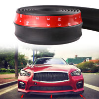 2.5M x 6CM Universal Black Car Rubber Bumper Lip Splitter Body Spoiler Protector