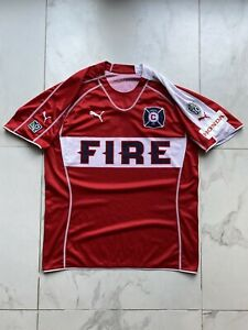MLS Chicago Fire Puma 2006 Jim Curtin Home Soccer Jersey Authentic 10 Years