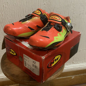 Northwave Extreme Tech SBS Carbon Road shoes Orange Look Speedplay EU 42 US 9.5