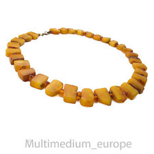 Butterscotch Nature Ambre Chaîne Poli real amber necklace collier 28 g