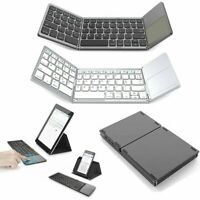 Wireless Foldable Bluetooth Keyboard Touchpad For Ipad iPhone Tablet Portable