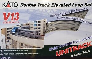 KATO V13 20-872-1 Double Track Elevated Loop Set N Scale Gauge NOS MIB Unitrack