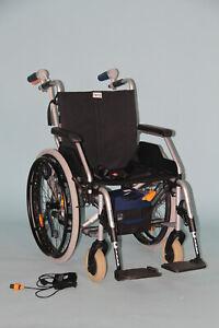 Rollstuhl mit Antrieb Alber V-Max faltbar Schiebehilfe 6km/h #7612