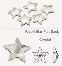 10 X Genuine SWAROVSKI 2816 Rivoli Star Flat Back Crystals 5mm * All Colors