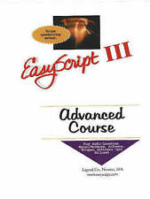 New, EasyScript III Advanced User/Instructor's Course Unique Speed Writing Metho