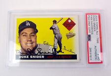 Duke Snider 2003 Topps Fan Favorites Signed Autograph Card Slabbed PSA/DNA COA
