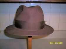 Albertino Supreme Quality 5X genuine Fur Felt Brown Fedora Size 7 1/4 Large 58CM