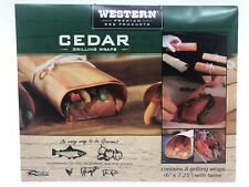 Western Cedar Grilling Wraps Premium BBQ Products 8 Per Package With Twine USA