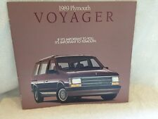 "1989 PLYMOUTH VOYAGER LE LX GRAND VOYAGER SE LE SHOWROOM BROCHURE ""NOS"""