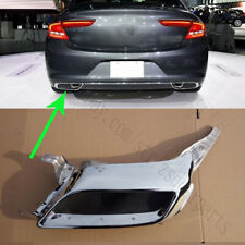 1x For Buick LaCrosse 2016-18 Left Side Rear Bumper Stainless steel Tail Throat