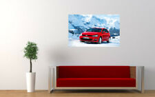 """RED VOLKSWAGEN GOLF 2013 PRINT WALL POSTER PICTURE 33.1""""x20.7"""""""