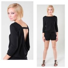 NWT juicy couture black draped back romper