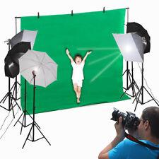 New Photo Studio Vedio Photography Kit 45W Light Bulb Umbrella Backdrop Set