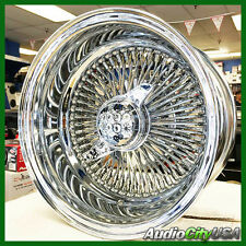 14X7 REV 100 Spokes WIRE WHEEL SET CH FIT CUTLES  IMPALA MONTE LOW RIDER new
