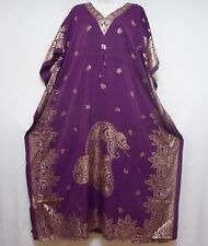 Caftan Dress Dashiki Kaftan Hippie Boho Paisley Beach Cover up Plus Size Violet