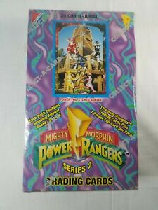 1994 Mighty Morphin Power Rangers Series 2 Trading Card Box - New/Sealed 24 Ct