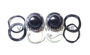 "Pair Of 7"" Lucas Type Metal Headlamp / Headlight Bowl / Bucket + Adjuster Morris"