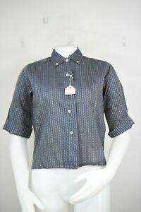 vintage Dutch-maid 50's shirt 14 girls new short sleeve loop collar striped
