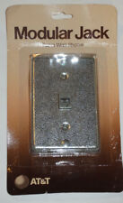 VINTAGE 1983 NEW GENUINE AT&T MODULAR JACK! FOR WALL PHONE! METAL FACEPLATE! USA