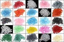 Rocailles 3mm Perlen Set 25 Farben Matt Ceylon Silbereinzug 8/0 500g BEST AM12