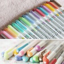 15 Color Full-Set-Zebra Mildliner Soft Color Double Sided Highlighter Marker