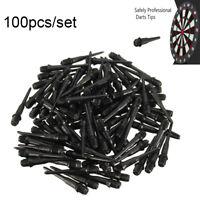 100Pcs 27mm Black Darts Shafts Soft Tips Plastic 2BA Size Thread Darts Gaming-