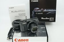 CANON POWER SHOT G7 X Mark II 20.1 MP DIGITAL CAMERA **24MM f/1.8 WIDE LENS**