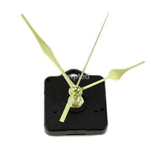 Gold Long Hands DIY Quartz Clock Movement Spindle Mechanism Repair Parts Kit ~