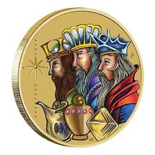 2016 Christmas Three Wise Men Tuvalu $1 One Dollar UNC Coin Perth Mint