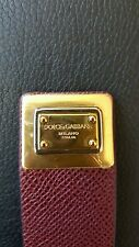 Dolce Gabbana Women's Burgundy Cuff Bracelet with Gold lock new new